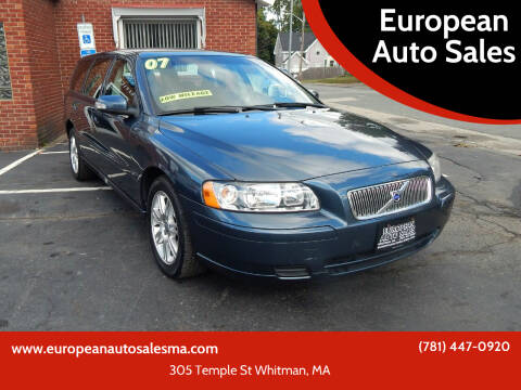 2007 Volvo V70 for sale at European Auto Sales in Whitman MA