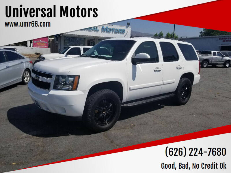2007 Chevrolet Tahoe for sale at Universal Motors in Glendora CA