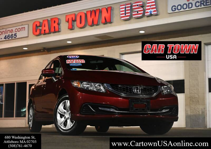 2014 Honda Civic for sale at Car Town USA in Attleboro MA