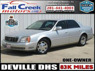 2002 Cadillac DeVille for sale at Fall Creek Motor Cars in Humble TX