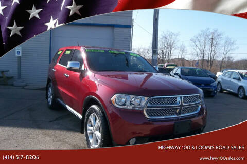 2013 Dodge Durango for sale at Highway 100 & Loomis Road Sales in Franklin WI