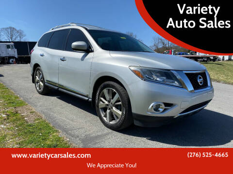 2014 Nissan Pathfinder for sale at Variety Auto Sales in Abingdon VA