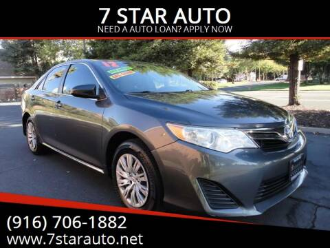 2012 Toyota Camry for sale at 7 STAR AUTO in Sacramento CA