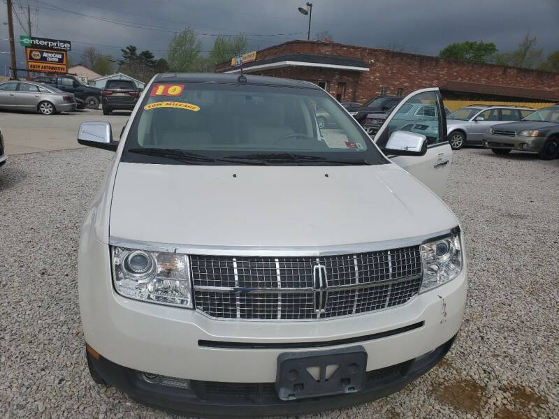 2010 Lincoln MKX for sale at Rash Automotive Used Cars Sales & Service in Weirton WV
