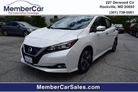 2019 Nissan LEAF for sale at MemberCar in Rockville MD