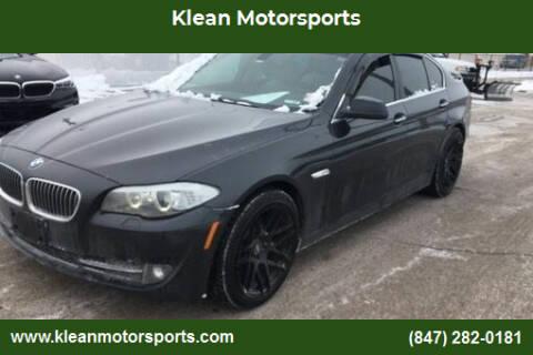2013 BMW 5 Series for sale at Klean Motorsports in Skokie IL
