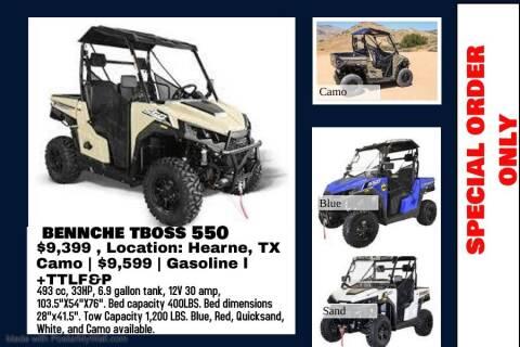 2020 BENNCHE T BOSS 550 for sale at JENTSCH MOTORS in Hearne TX