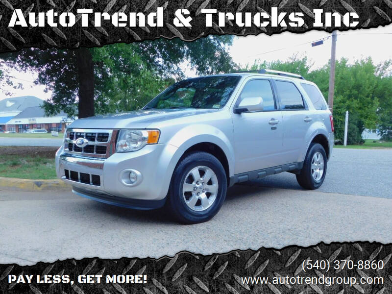 2011 Ford Escape for sale at AutoTrend & Trucks Inc in Fredericksburg VA
