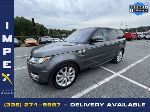 2017 Land Rover Range Rover Sport for sale at Impex Auto Sales in Greensboro NC