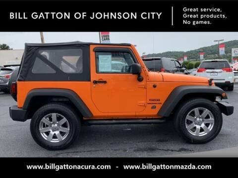 2012 Jeep Wrangler for sale at Bill Gatton Used Cars - BILL GATTON ACURA MAZDA in Johnson City TN