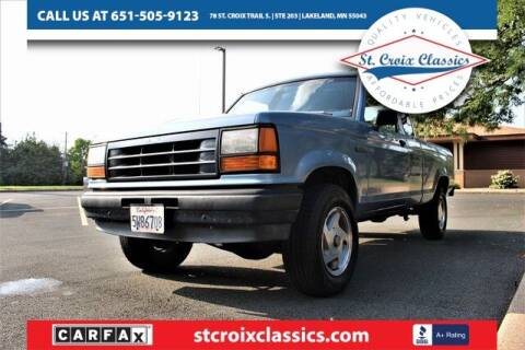 1991 Ford Ranger for sale at St. Croix Classics in Lakeland MN