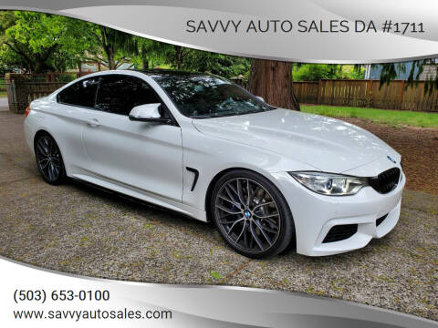 2015 BMW 4 Series for sale at SAVVY AUTO SALES DA #1711 in Portland OR