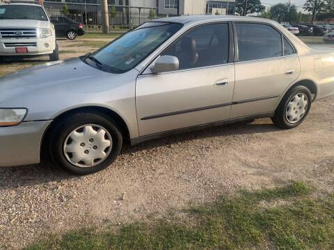 1999 Honda Accord for sale at FAIR DEAL AUTO SALES INC in Houston TX