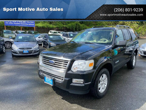 2008 Ford Explorer for sale at Sport Motive Auto Sales in Seattle WA