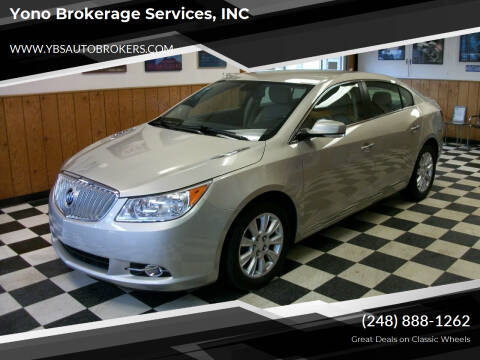 2013 Buick LaCrosse for sale at Yono Brokerage Services, INC in Farmington MI