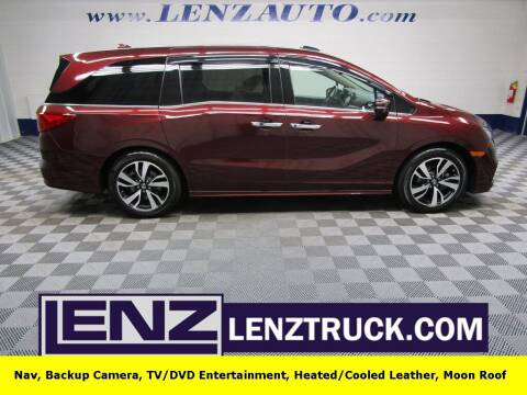 2020 Honda Odyssey for sale at LENZ TRUCK CENTER in Fond Du Lac WI