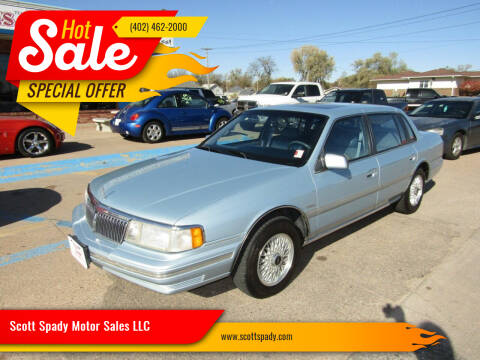 1992 Lincoln Continental for sale at Scott Spady Motor Sales LLC in Hastings NE