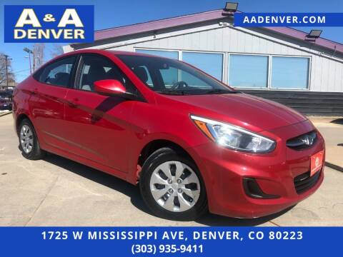 2016 Hyundai Accent for sale at A & A AUTO LLC in Denver CO