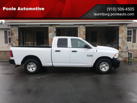 2018 RAM Ram Pickup 1500 for sale at Poole Automotive in Laurinburg NC