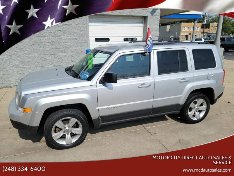 2011 Jeep Patriot for sale at Motor City Direct Auto Sales & Service in Pontiac MI