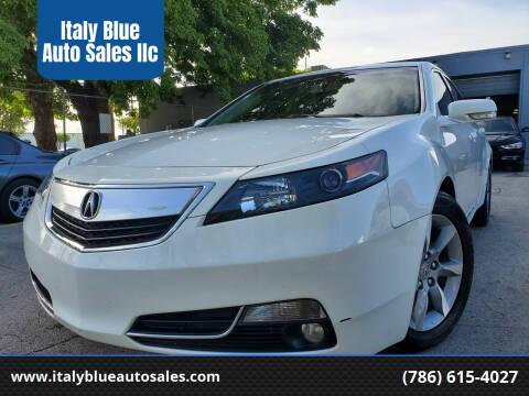 2013 Acura TL for sale at Italy Blue Auto Sales llc in Miami FL