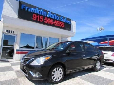 2015 Nissan Versa for sale at Franklin Auto Sales in El Paso TX