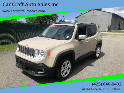 2015 Jeep Renegade for sale at Car Craft Auto Sales Inc in Lynnwood WA