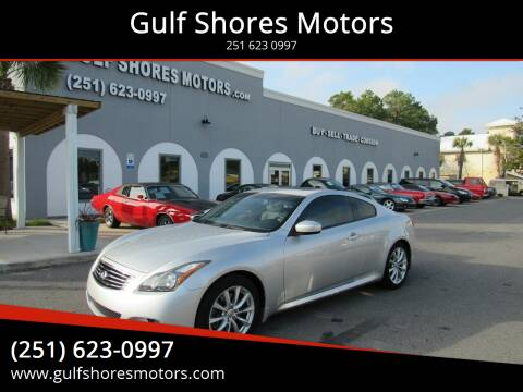 2013 Infiniti G37 Coupe for sale at Gulf Shores Motors in Gulf Shores AL