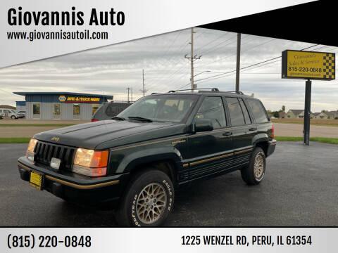 1993 Jeep Grand Cherokee for sale at Giovannis Auto in Peru IL