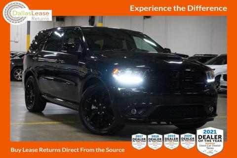 2018 Dodge Durango for sale at Dallas Auto Finance in Dallas TX