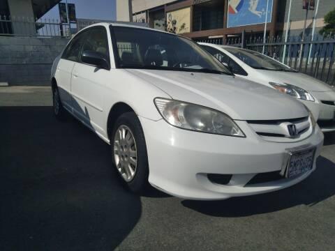 2005 Honda Civic for sale at Western Motors Inc in Los Angeles CA