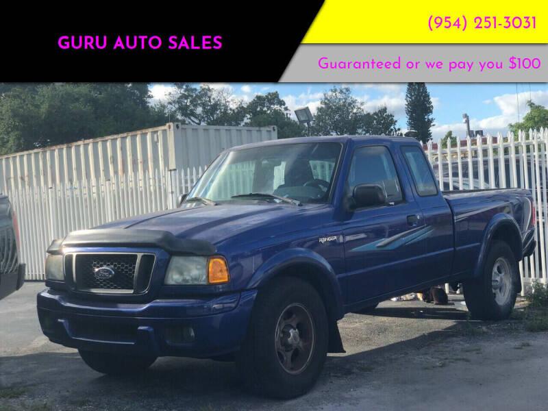 2004 Ford Ranger for sale at Guru Auto Sales in Miramar FL