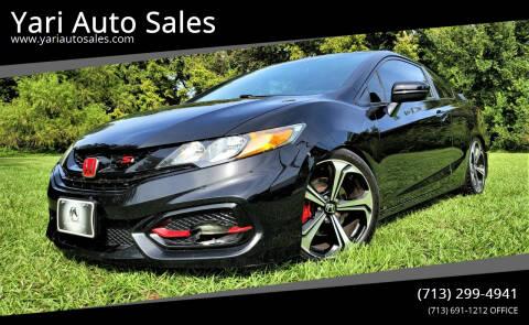 2014 Honda Civic for sale at Yari Auto Sales in Houston TX