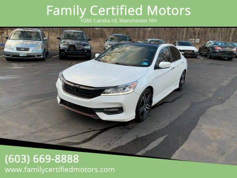 2016 Honda Accord for sale at Family Certified Motors in Manchester NH