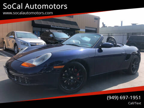 2001 Porsche Boxster for sale at SoCal Auto Motors in Costa Mesa CA