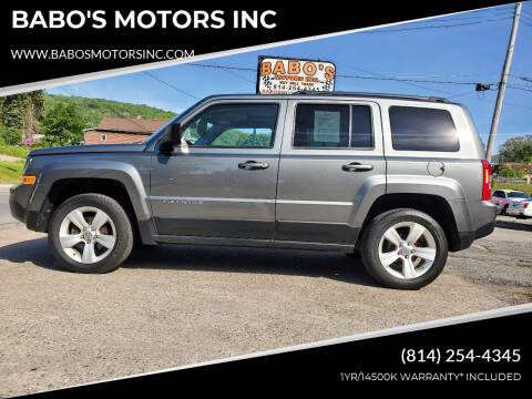 2012 Jeep Patriot for sale at BABO'S MOTORS INC in Johnstown PA