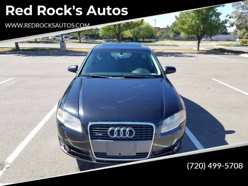 2007 Audi A4 for sale at Red Rock's Autos in Denver CO