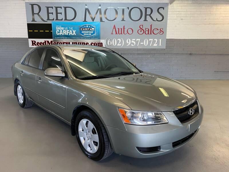 2008 Hyundai Sonata for sale at REED MOTORS LLC in Phoenix AZ