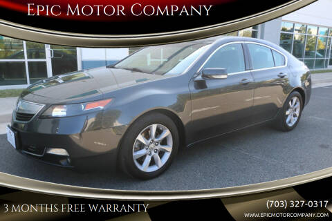 2013 Acura TL for sale at Epic Motor Company in Chantilly VA