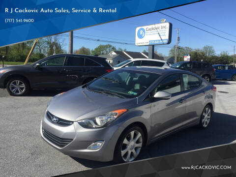 2012 Hyundai Elantra for sale at R J Cackovic Auto Sales, Service & Rental in Harrisburg PA