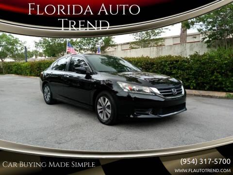 2015 Honda Accord for sale at Florida Auto Trend in Plantation FL