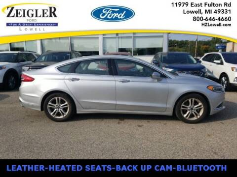 2018 Ford Fusion for sale at Zeigler Ford of Plainwell- michael davis in Plainwell MI