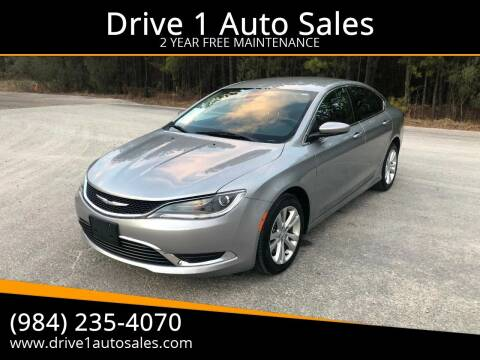 2015 Chrysler 200 for sale at Drive 1 Auto Sales in Wake Forest NC