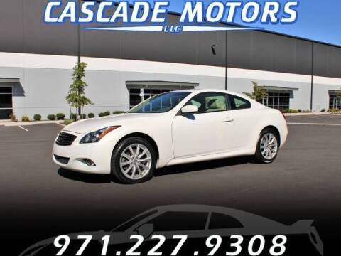 2012 Infiniti G37 Coupe for sale at Cascade Motors in Portland OR