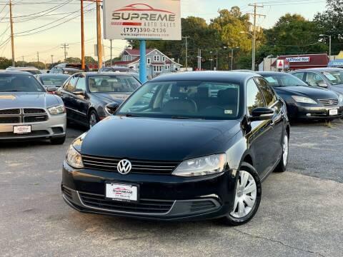 2013 Volkswagen Jetta for sale at Supreme Auto Sales in Chesapeake VA