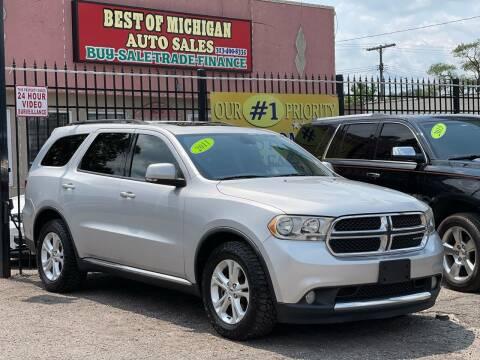 2011 Dodge Durango for sale at Best of Michigan Auto Sales in Detroit MI