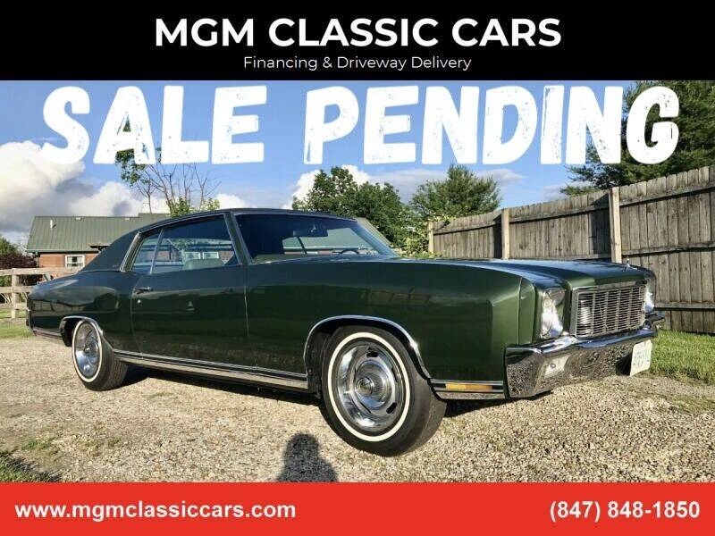 1971 Chevrolet Monte Carlo for sale at MGM CLASSIC CARS-New Arrivals in Addison IL