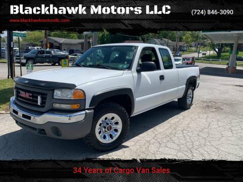2006 GMC Sierra 1500 for sale at Blackhawk Motors LLC in Beaver Falls PA