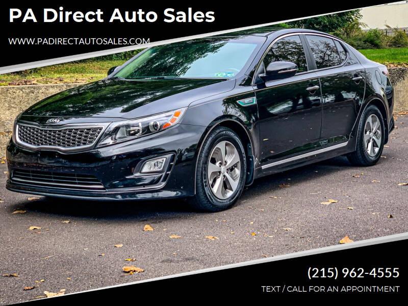 2015 Kia Optima Hybrid for sale at PA Direct Auto Sales in Levittown PA