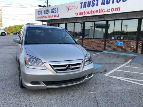 2007 Honda Odyssey for sale at Trust Autos, LLC in Decatur GA